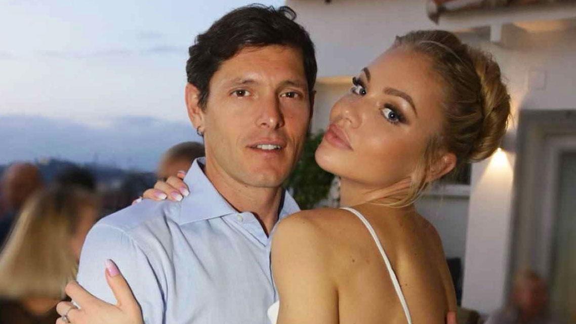 Aldo Montano con la moglie Olga Plachina