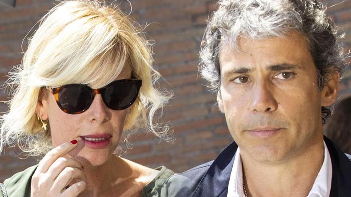 Alessia Marcuzzi con il marito Paolo Calabresi