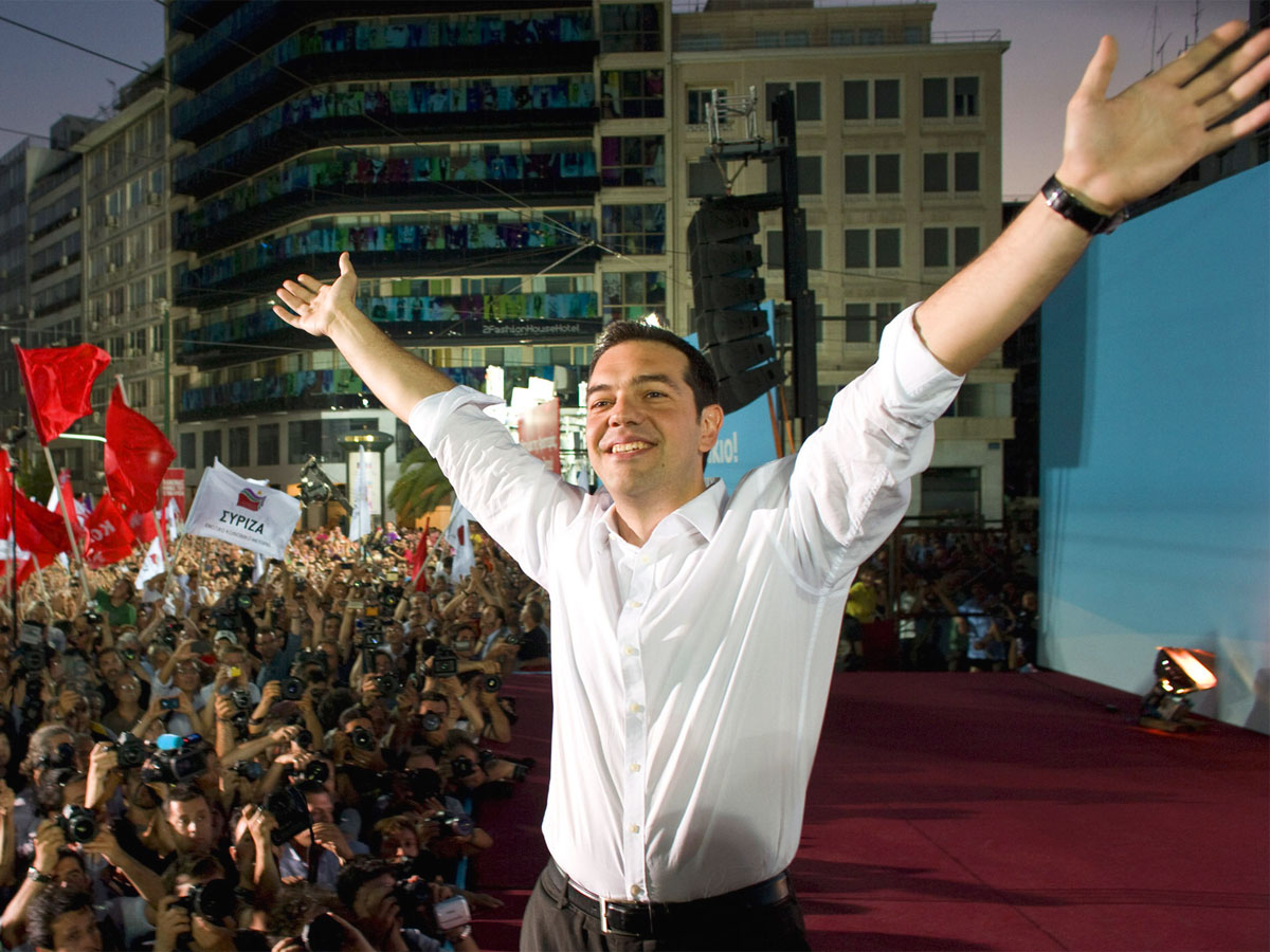 Into the hands of Alexis Tsipras, Greece prime minister Alexis_Tsipras_2