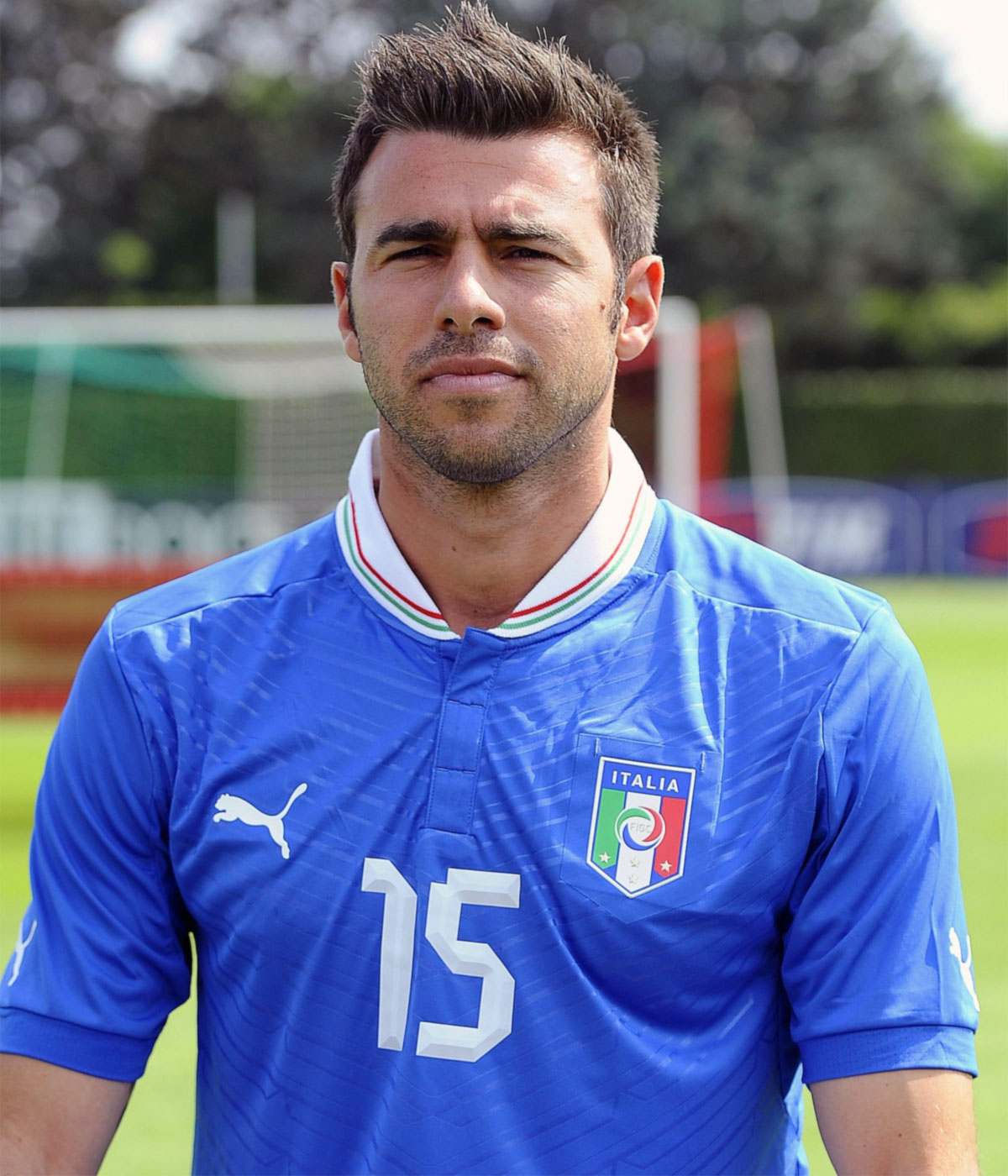 The 36-year old son of father (?) and mother(?), 186 cm tall Andrea Barzagli in 2018 photo