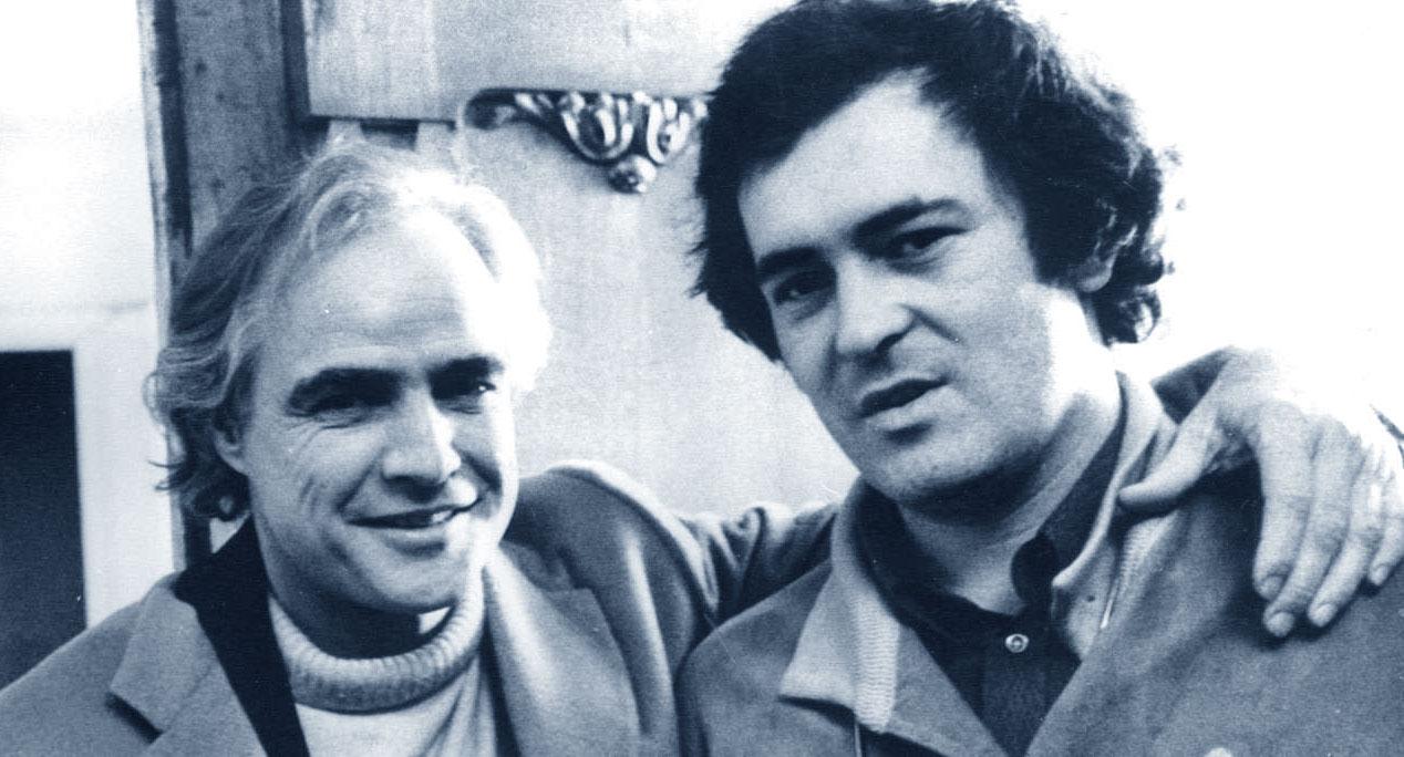 Bernardo Bertolucci con Marlon Brando