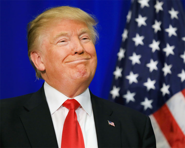 Foto media di Donald Trump