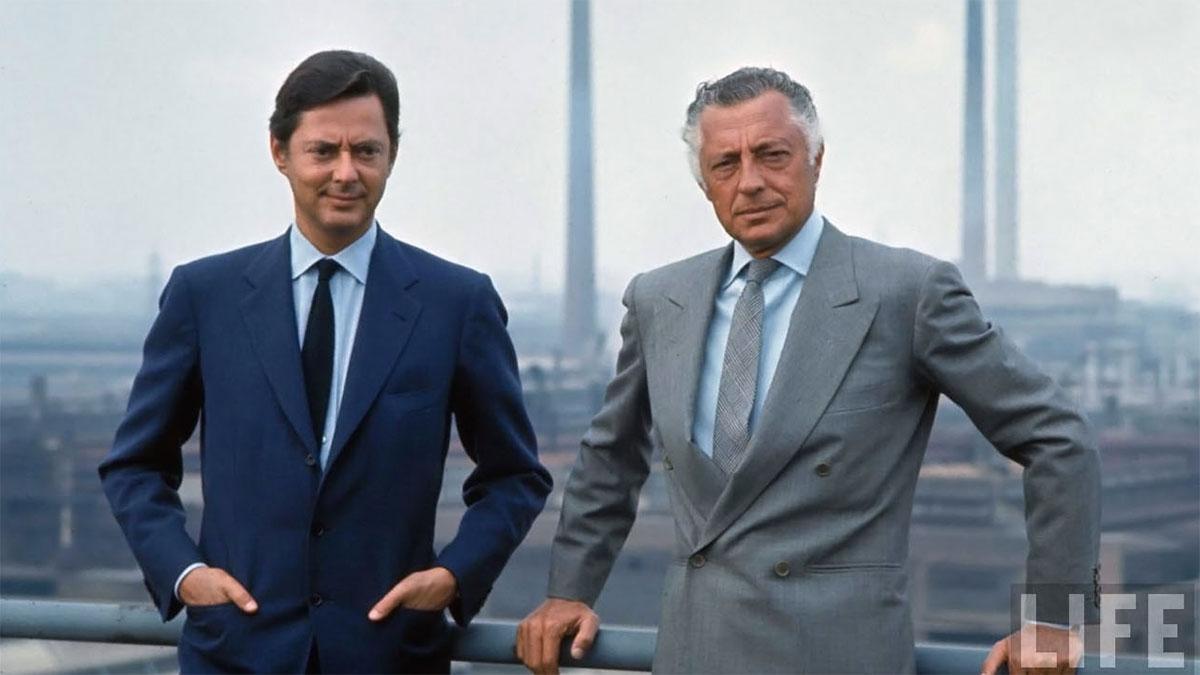 Gianni Agnelli con Umberto Agnelli