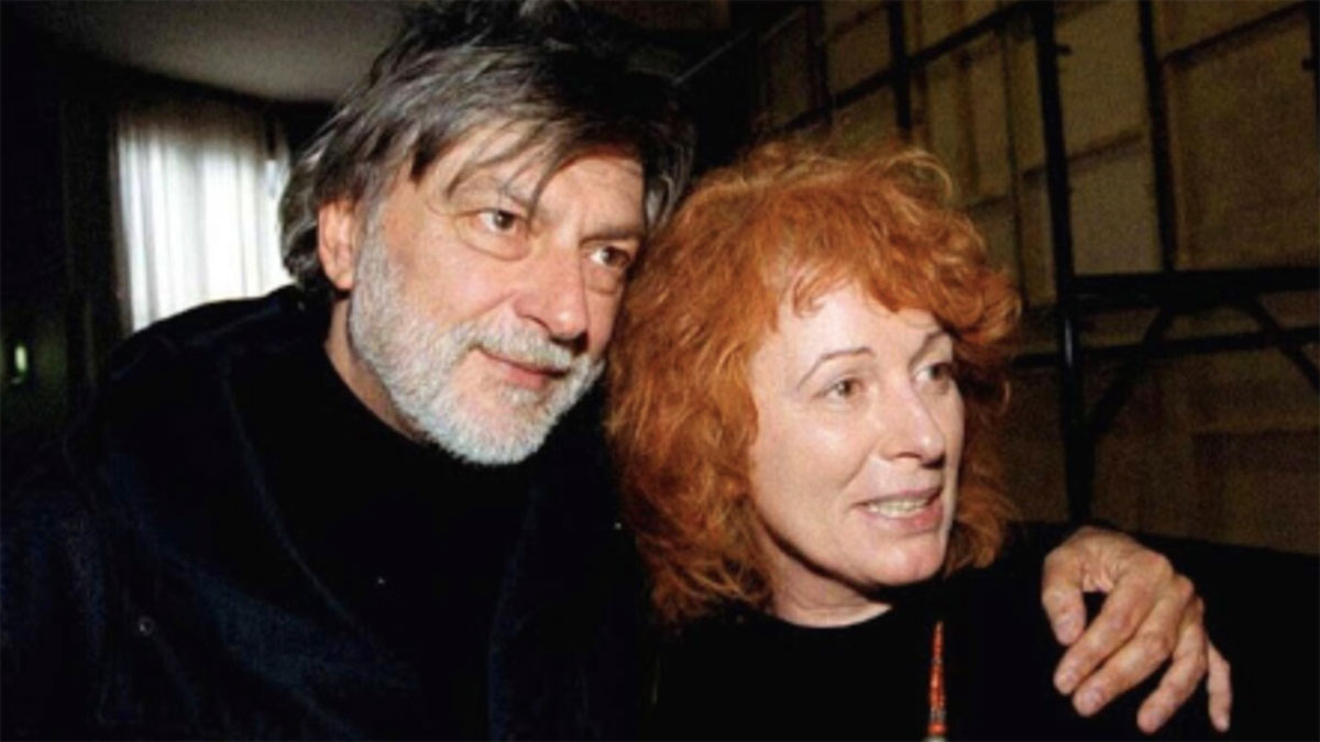Gino Strada con la moglie Teresa Sarti