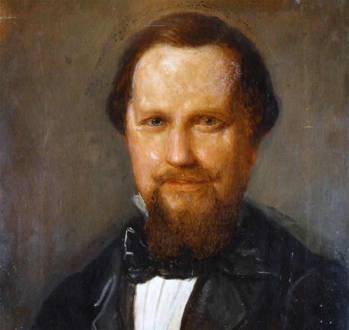 Goffredo Mameli, l'autore del Canto degli Italiani, noto anche come Fratelli d'Italia, o Inno di Mameli