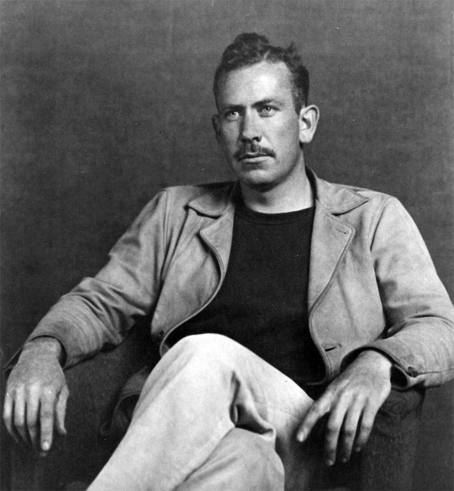 a biography of john steinbeck John steinbeck: biography back next  john steinbeck had a habit of signing letters and books with a tiny drawing of a winged pig, accompanied by the latin phrase ad astra per alia porci—to the stars on the wings of a pigthe character, which he named pigasus, was meant as a reminder that man should always strive for higher ground, no matter how lowly his skills may seem.