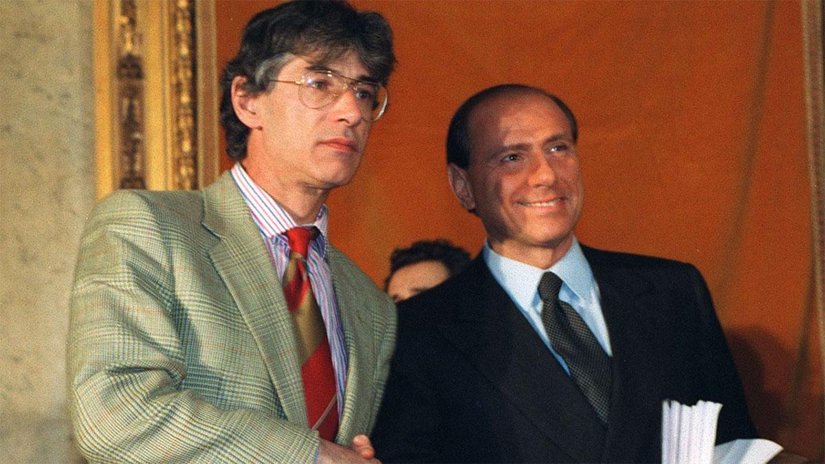Umberto Bossi con Silvio Berlusconi