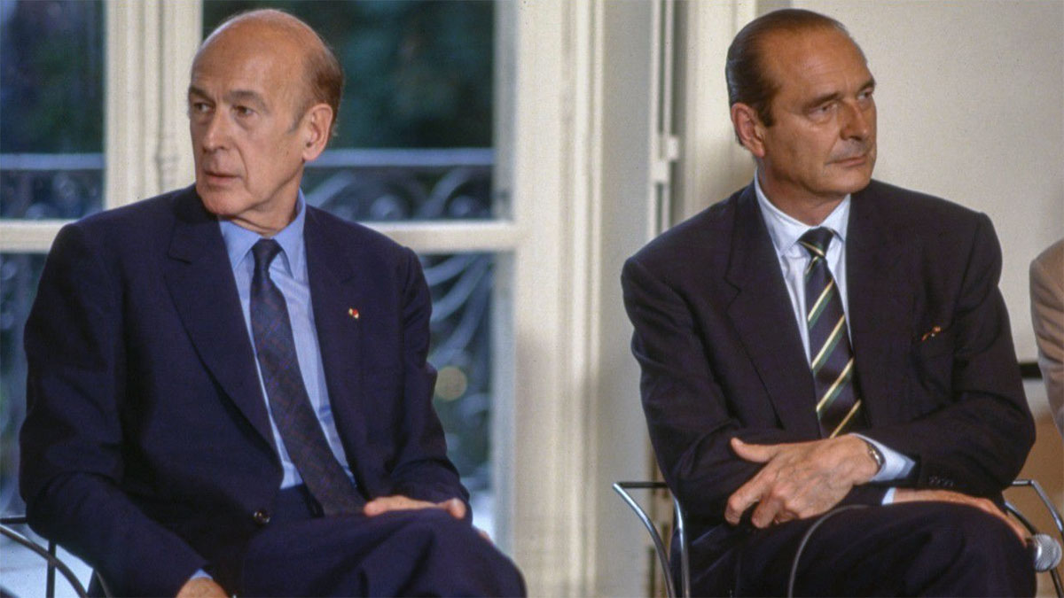 Valéry Giscard d'Estaing con Jacques Chirac