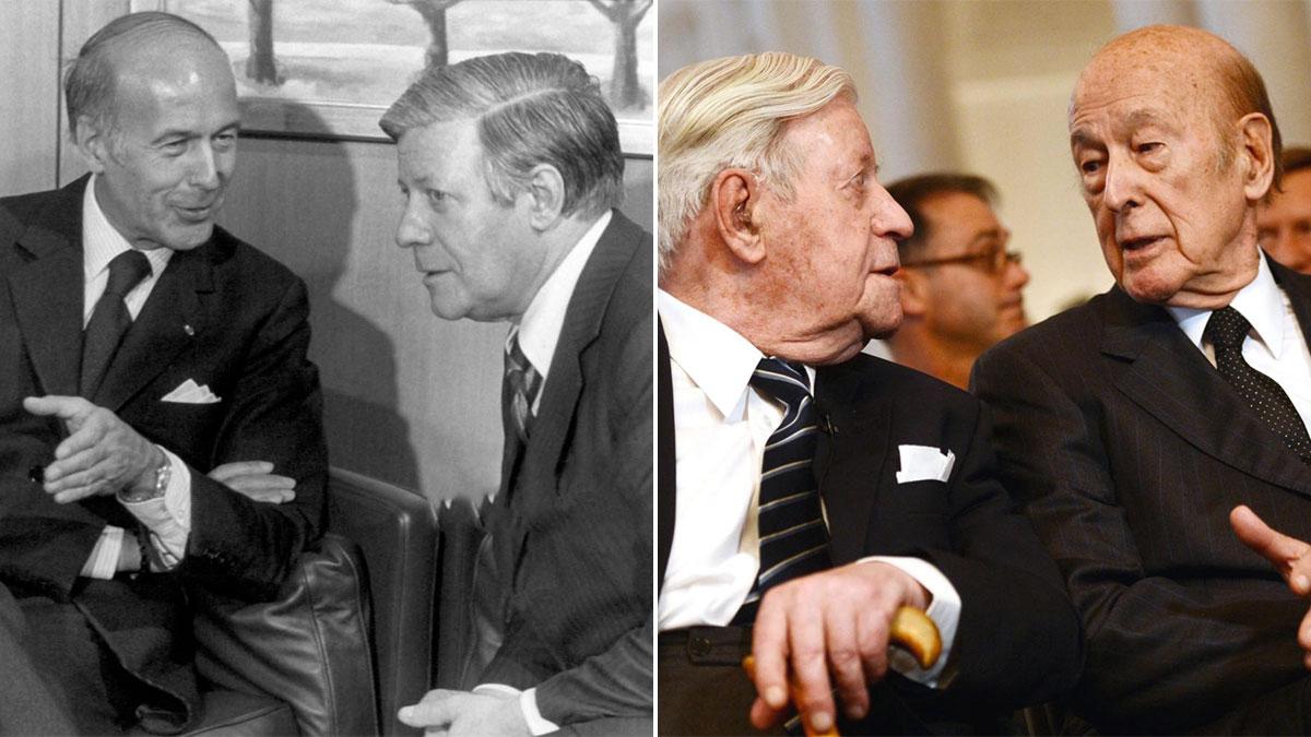 Valéry Giscard d'Estaing con Helmut Schmidt