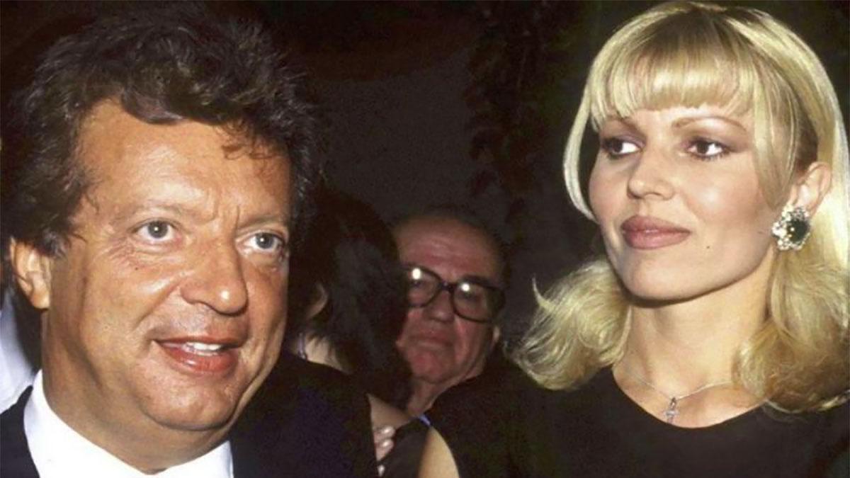 Vittorio Cecchi Gori con Rita Rusic