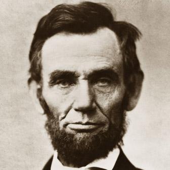 Foto quadrata di Abraham Lincoln