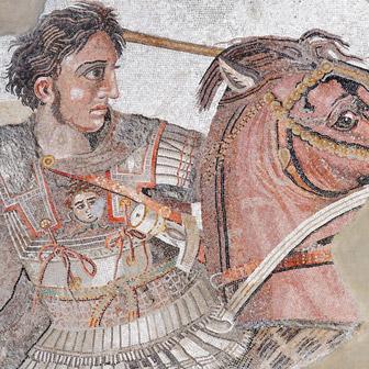 Foto quadrata di Alessandro Magno