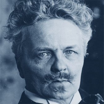 Foto quadrata di August Strindberg