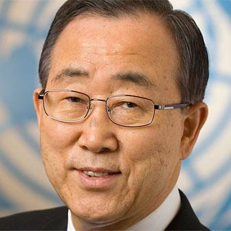 Foto quadrata di Ban Ki-moon