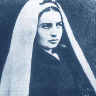 Foto quadrata di Bernadette di Lourdes