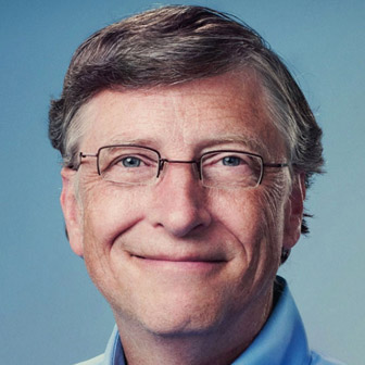 Foto quadrata di Bill Gates