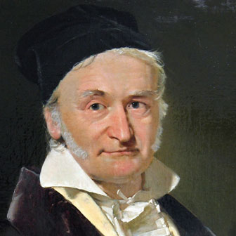 Foto quadrata di Carl Friedrich Gauss