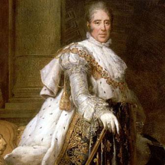 Foto quadrata di Carlo X di Francia