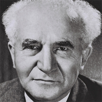 Foto di David Ben Gurion