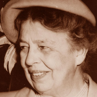 Foto quadrata di Eleanor Roosevelt