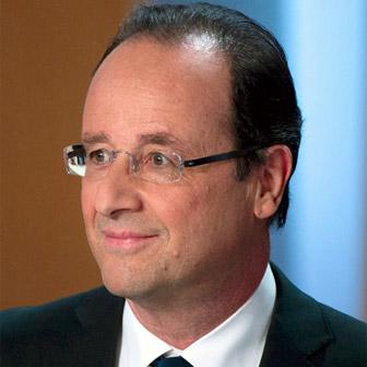 Foto quadrata di François Hollande