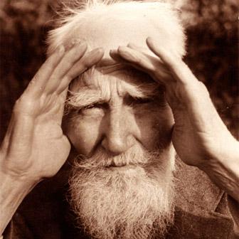 Foto quadrata di George Bernard Shaw