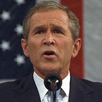 Foto quadrata di George W. Bush