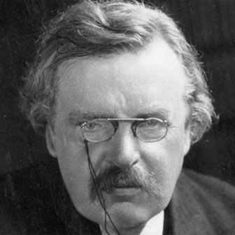 Foto di Gilbert Keith Chesterton