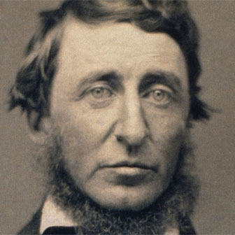 Foto quadrata di Henry David Thoreau