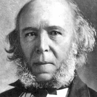 Foto quadrata di Herbert Spencer
