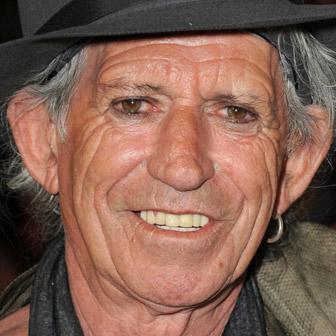 Foto quadrata di Keith Richards