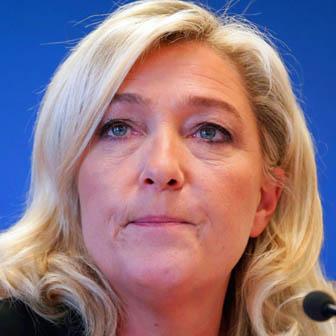 Foto quadrata di Marine Le Pen