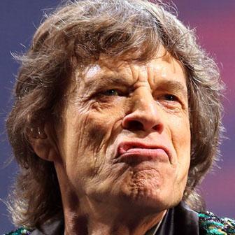 Foto quadrata di Mick Jagger