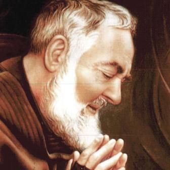 Foto quadrata di Padre Pio