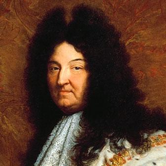 Foto quadrata di Re Luigi XIV