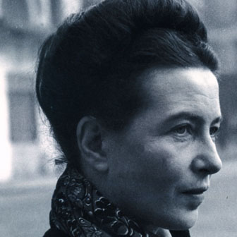 Foto di Simone de Beauvoir