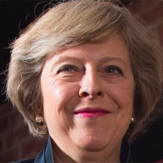 Foto quadrata di Theresa May