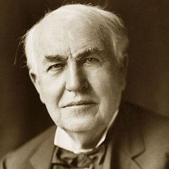 Foto di Thomas Alva Edison