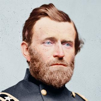 Foto quadrata di Ulysses S. Grant