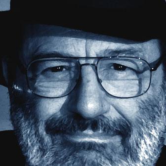 Foto quadrata di Umberto Eco