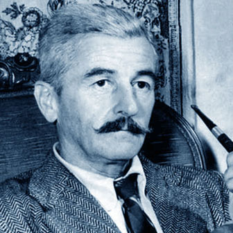 Foto quadrata di William Faulkner
