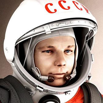 Foto quadrata di Yuri Gagarin