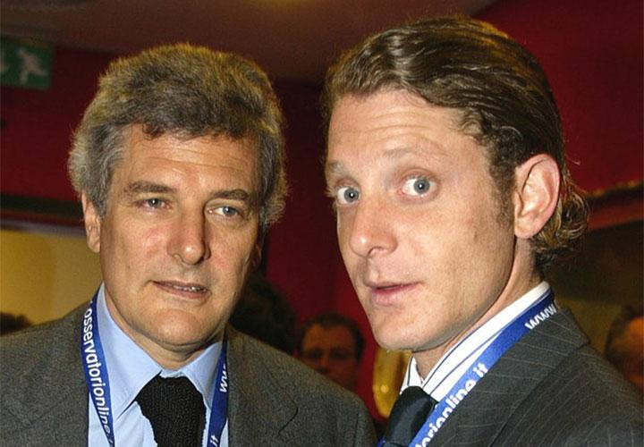Alain Elkann con il figlio Lapo