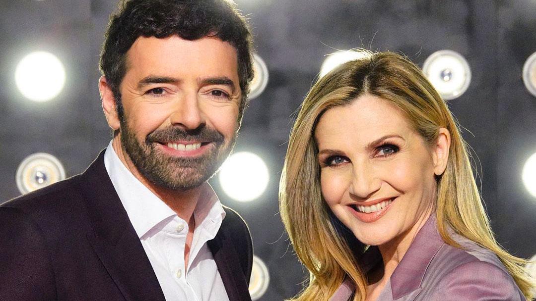 Alberto Matano con Lorella Cuccarini
