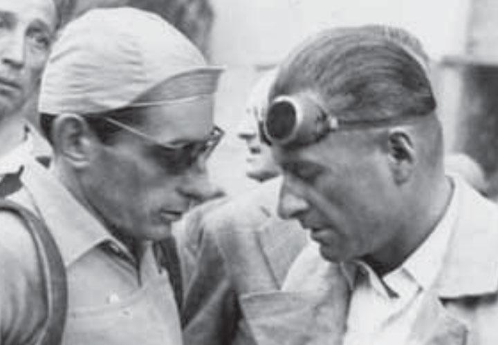 Alfredo Binda con Fausto Coppi