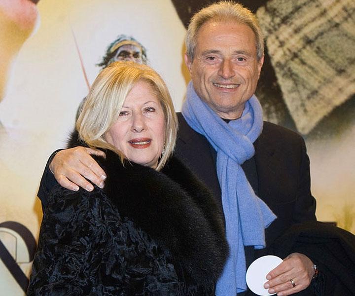 Amedeo Minghi con la moglie Elena Paladino