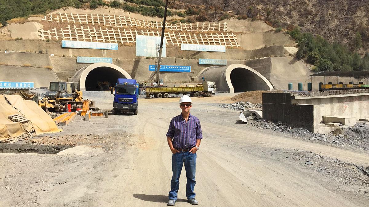 Antonio Valente in Algeria nel 2017 - Cantiere Autostrada Algeri-Medea
