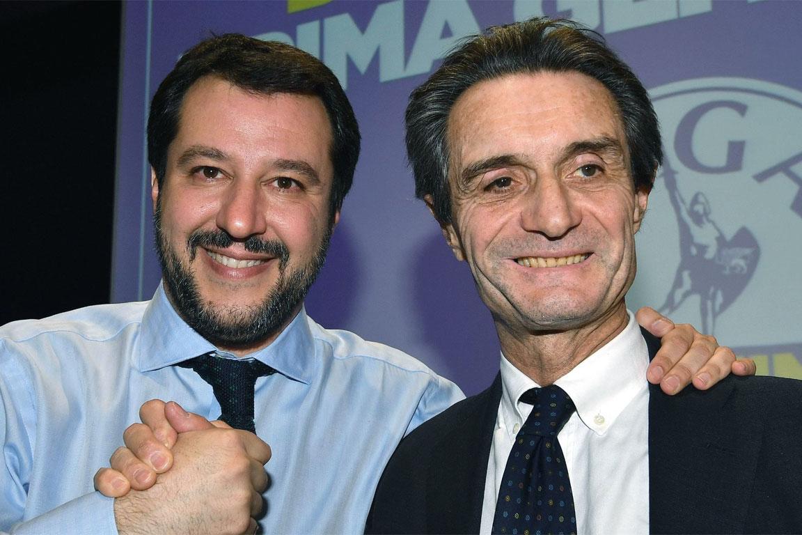 Attilio Fontana con Matteo Salvini