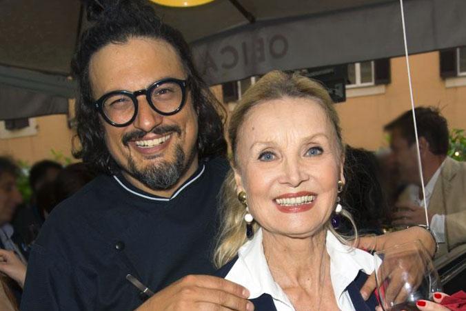 Barbara Bouchet con Alessandro Borghese