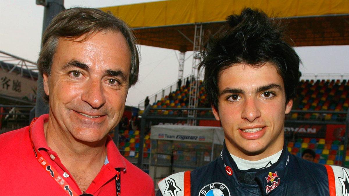 Carlos Sainz Jr. con il padre Carlos Sainz